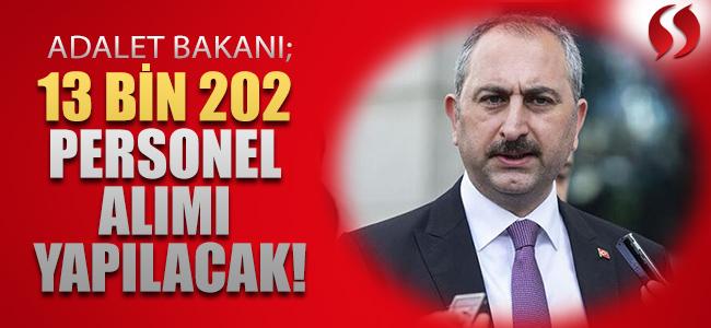 Adalet Bakanlığına 13 Bin 202 Personel Alınacak!