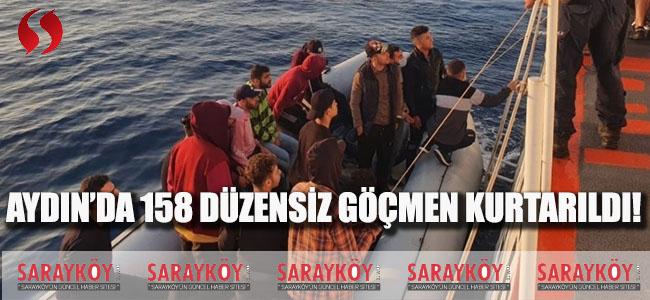 Aydın'da 158 Düzensiz Göçmen Kurtarıldı!