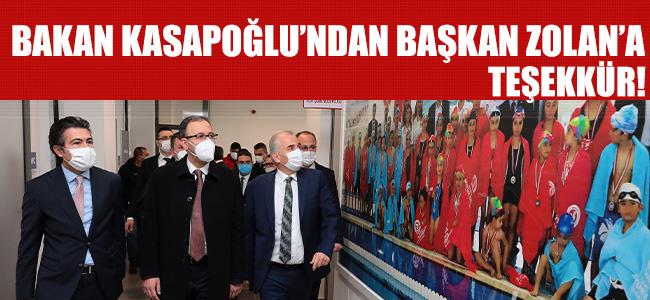 Bakan Kasapoğlu'ndan Başkan Zolan'a Teşekkür!