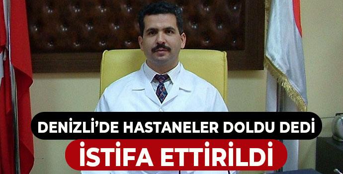 Başhekim Yardımcısı, 'Covid servisleri doldu, hastanede yer yok' dedi, istifa ettirildi