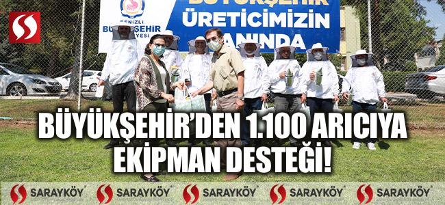 Büyükşehir'den 1.100 arıcıya ekipman desteği!