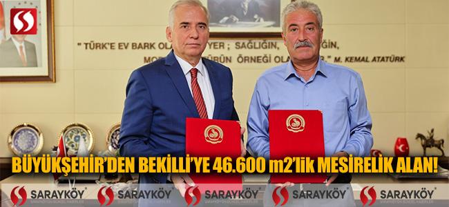 Büyükşehir'den Bekilli'ye 46.600 m2'lik mesirelik alan!
