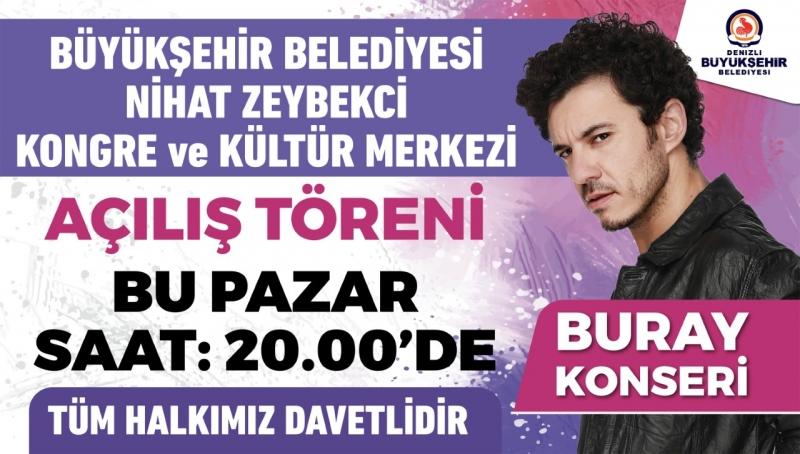 Büyükşehir'den dev tesisin açılışına özel Buray konseri