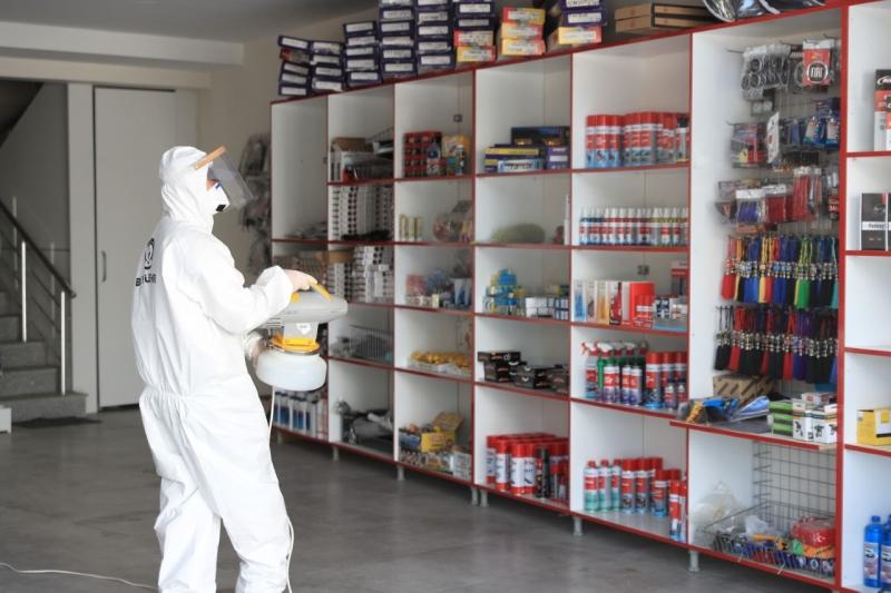 Büyükşehir'den sanayi esnafına dezenfeksiyon desteği