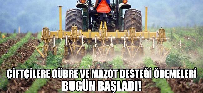 Çiftçilere mazot ve gübre desteği ödemeleri başladı!