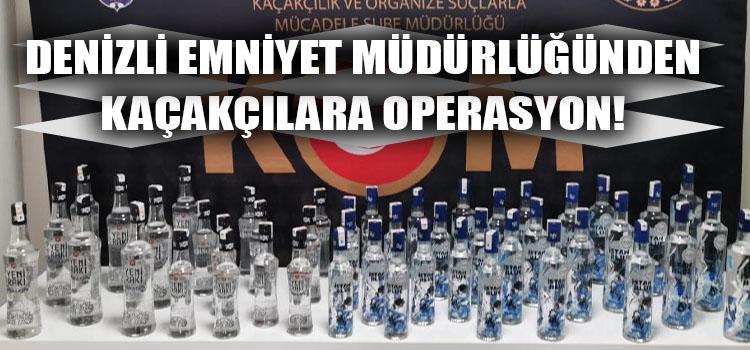 Denizli Emniyet Müdürlüğünden Kaçakçılara Operasyon!