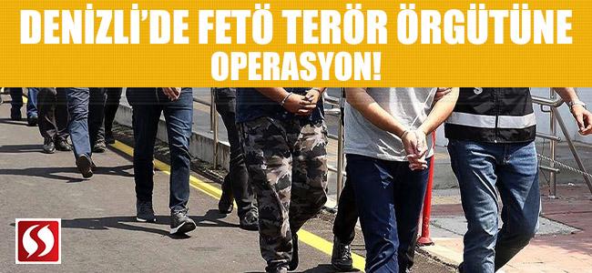 Denizli'de FETÖ terör örgütüne operasyon!