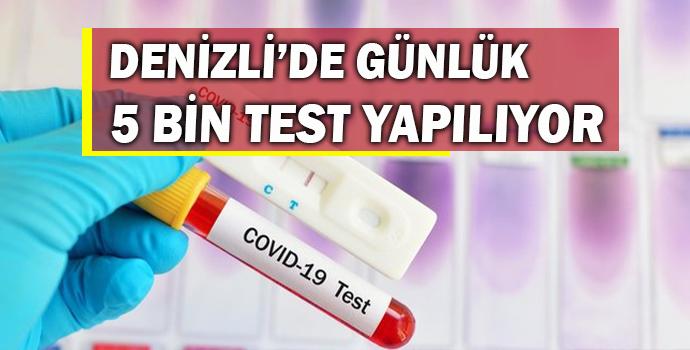 Denizli'de Günlük 5 Bin Koronavirüs Testi Yapılıyor