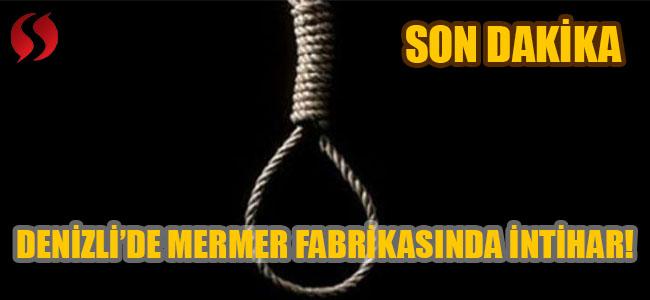 Denizli'de intihar!