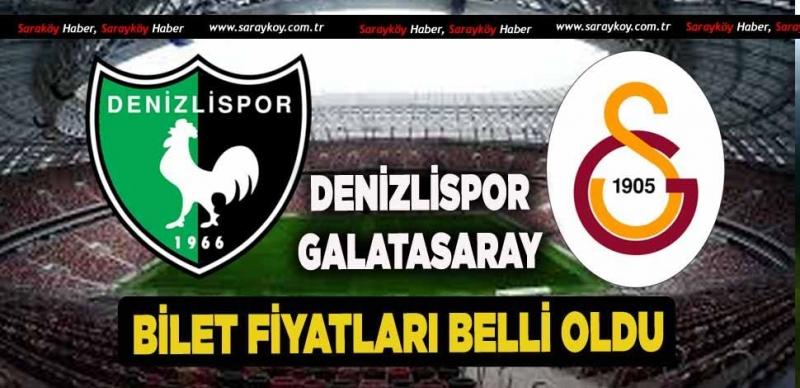 Denizlispor-Galatasaray Maçının Bilet Fiyatı Belli Oldu!