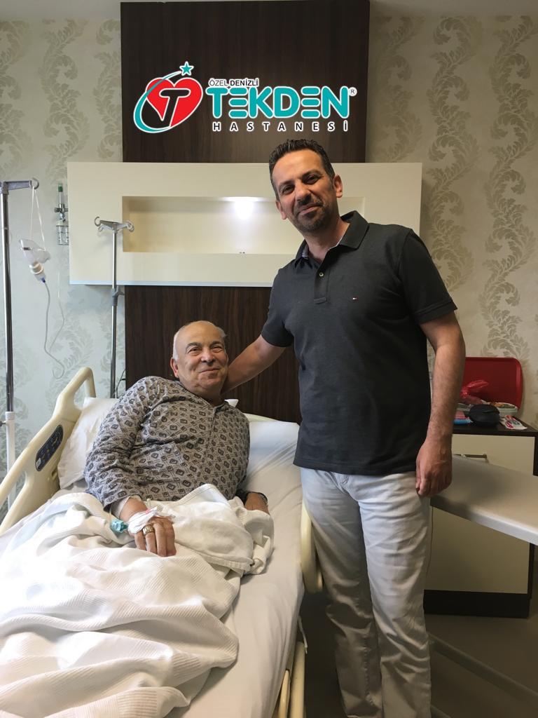 Gurbetci Ali Osman amca Özel Denizli Tekden Hastanesinde şifa buldu