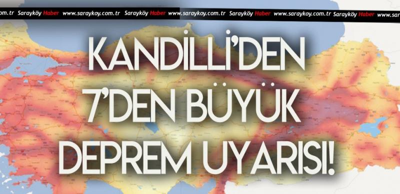 KANDİLLİ'DEN 7 BÜYÜKLÜĞÜNDE DEPREM UYARISI!
