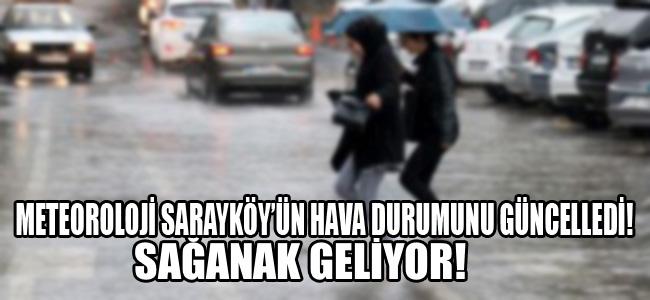 Meteoroloji Sarayköy'ün hava durumunu güncelledi. Sağanak geliyor!