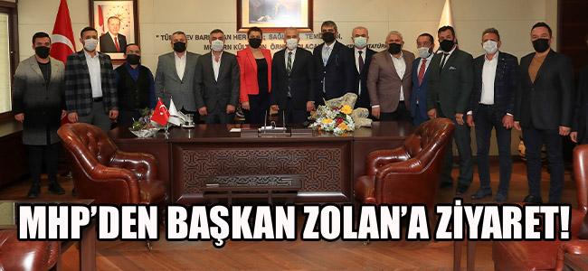 MHP'den Başkan Osman Zolan'a ziyaret!