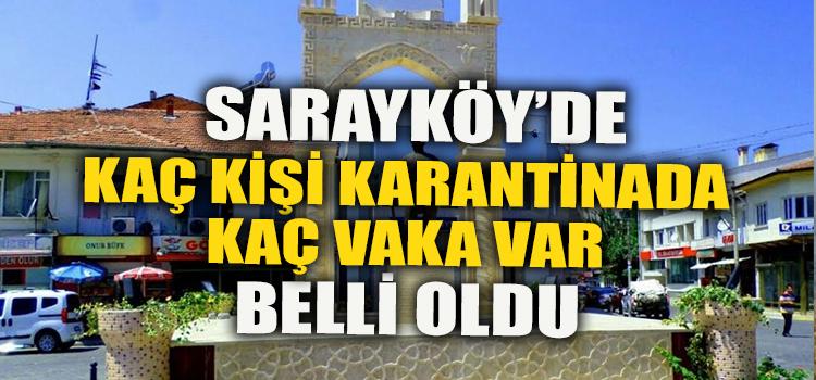 SARAYKÖY'DE HANGİ MAHALLEDE KAÇ VAKA VAR BELLİ OLDU