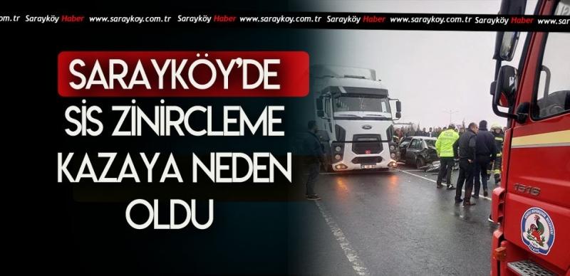 SARAYKÖY'DE SİS KAZASI 2 YARALI