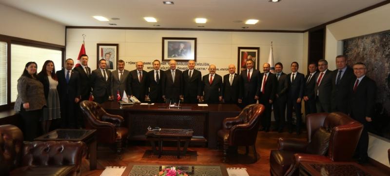 Vakıfbank Genel Müdürü Özcan'dan Başkan Zolan'a ziyaret