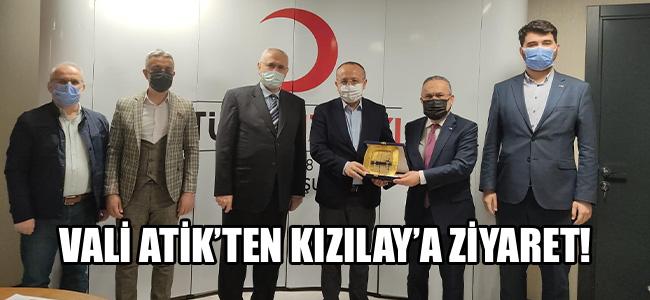 Vali Atik'ten Kızılay'a ziyaret!