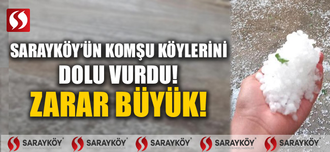 Sarayköy'ün komşu köylerini dolu vurdu! Zarar büyük!