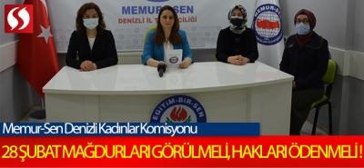 28 Şubat mağdurları görülmeli, hakları ödenmeli!