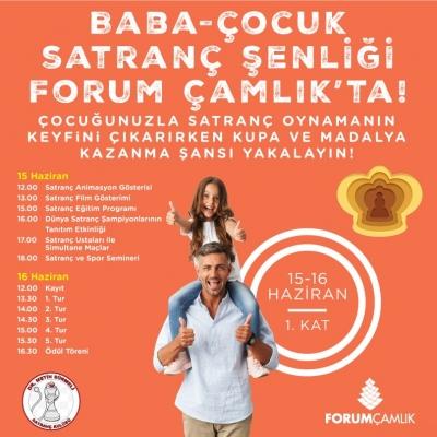 Babalar Günü şenliği Forum Çamlık'ta