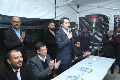 """Başkan Subaşıoğlu, Şemikler Mahallesi'nde konuştu:  """"MERKEZEFENDİ DEMEK PROJE DEMEK"""""""