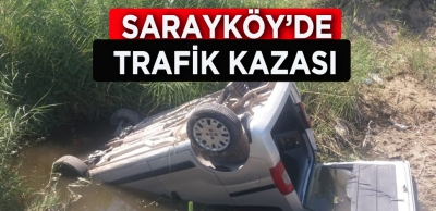 BAYRAMLAŞMAYA GİDERKEN KAZA YAPTILAR
