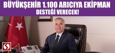 Büyükşehir 1.100 arıcıya ekipman desteği verecek!