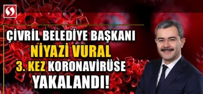 Çivril Belediye Başkanı 3. kez koronavirüse yakalandı!