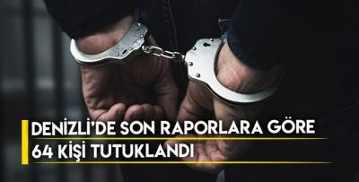 DENİZLİ'DE SON RAPORLARA GÖRE 64 KİŞİ TUTUKLANDI