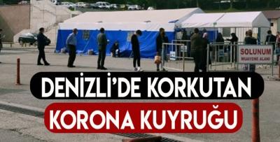 DENİZLİ'DE TEST KUYRUĞU HER GEÇEN GÜN UZUYOR