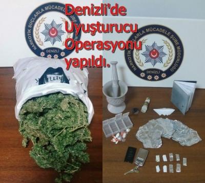 Denizli'de Uyuşturucu Operasyonu yapıldı.
