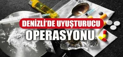 Denizli'de uyuşturucu operasyonu: 22 tutuklu