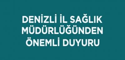 DENİZLİLİLER DİKKAT!!