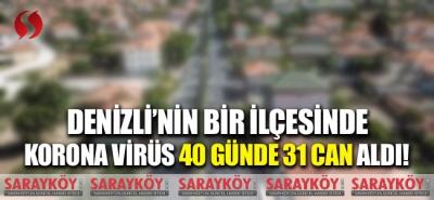 Denizli'nin bir ilçesinde korona virüs 40 günde 31 can aldı!
