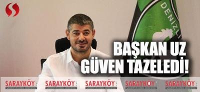 Denizlispor'da Başkan Uz Güven Tazeledi!