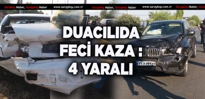 DUACILI'DA TRAFİK KAZASI 4 YARALI