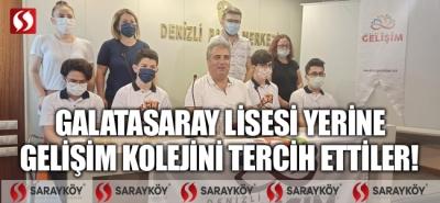 Galatasaray Lisesi yerine Gelişim Kolejini tercih ettiler!