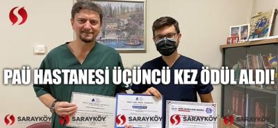 PAÜ Hastanesi Üçüncü Kez Ödül Aldı!
