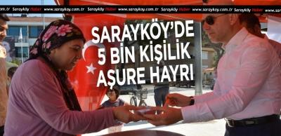 Sarayköy Belediyesi'nden 5 bin kişilik aşure hayrı