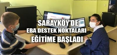 SARAYKÖY'DE EBA DESTEK NOKTALARI AÇILDI