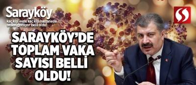 Sarayköy'de toplam vaka sayısı belli oldu. Kaç kişi evde kaç kişi hastanede tedavi altında bu haberde...