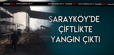 SARAYKÖY'DE YANGIN 50 BİN TL ZARARA YOL AÇTI
