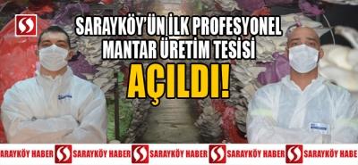 SARAYKÖY'ÜN İLK PROFESYONEL MANTAR ÜRETİM TESİSİ AÇILDI!