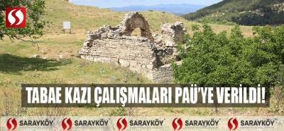 Tabae Kazı Çalışmaları, PAÜ'ye Verildi!